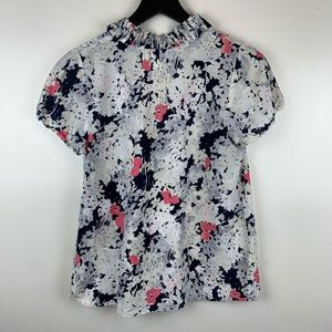 Ann Taylor LOFT Floral Blouse Cotton/Silk Blend MP
